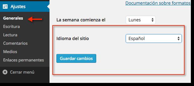 Seit WordPress 4.0 kann man die Sprache der installierten Webseite von dem Dashboard aus ändern
