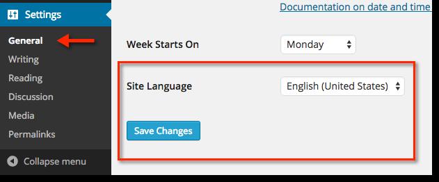 Wie ändert man nun die Sprache, nachdem man die WordPress-Installation abgeschlossen hat?