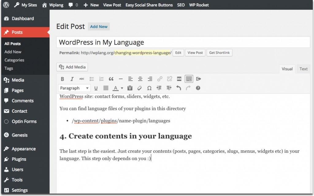 WordPress 100% en espa�ol