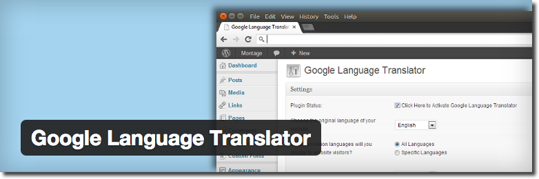 Google Language Translator - WordPress Plugin