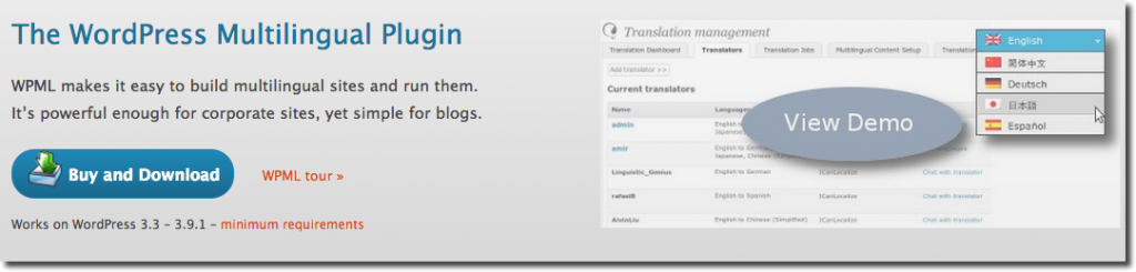 WPML WordPress Plugin Multilingue
