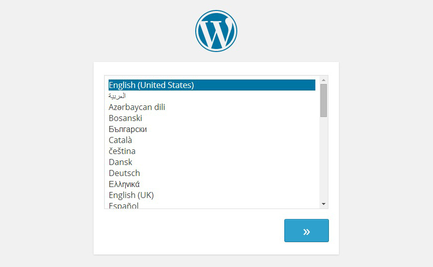 Wordpress Choose Language Installation