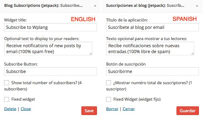 Translate Widget WordPress Multisite