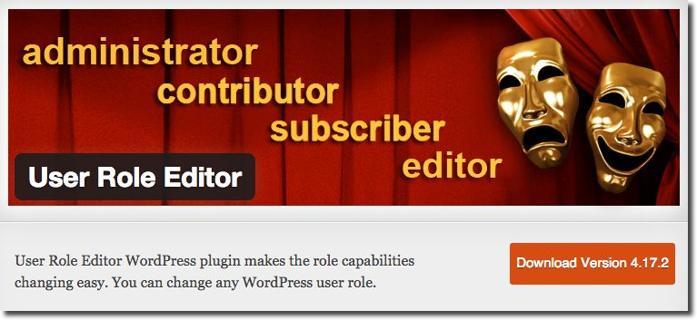 User Role Editor Plugin