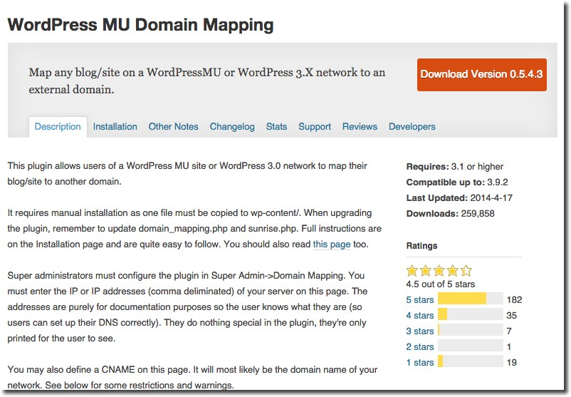 WordPress Domain Mapping Plugin