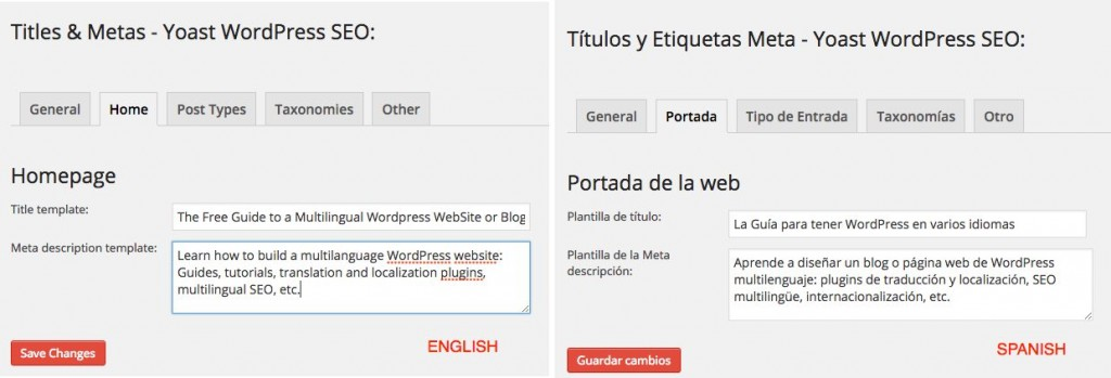 WordPress SEO Multisite - Title - Meta description