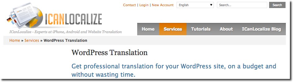 IcanLocalize WordPress Translation