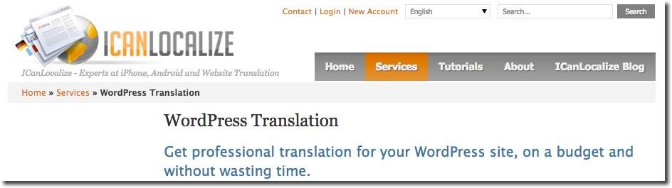 IcanLocalize WordPress Servicio Traducción