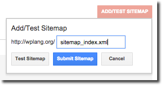 Add Sitemap Google Webmasters Tools