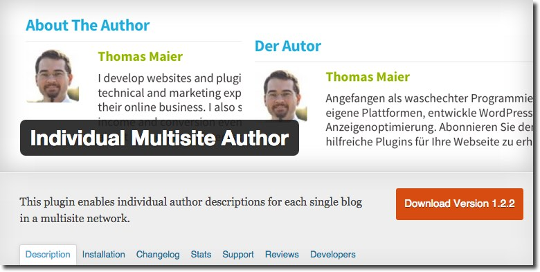 Individual Multisite Author Plugin
