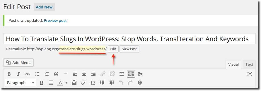 Translating slugs in WordPress