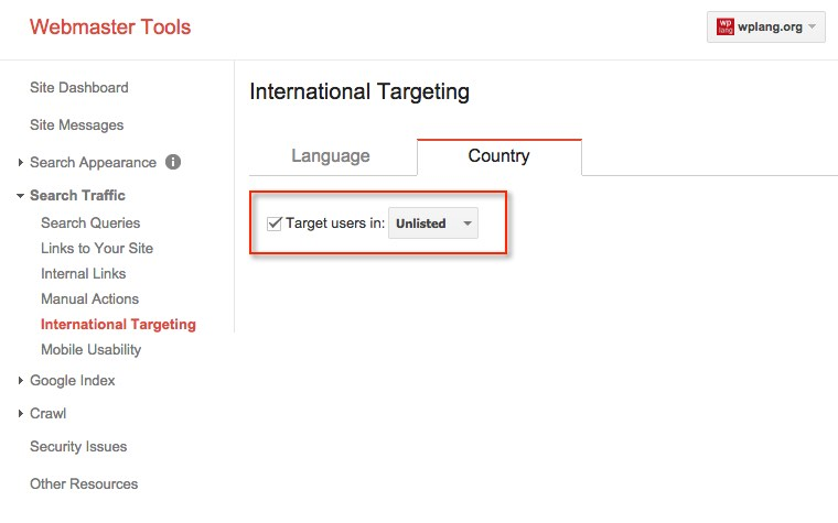 International Targeting Unlisted