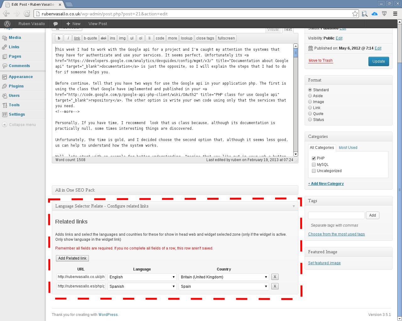 Language Selector Related Plugin