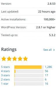 Translate WordPress with GTranslate ratings